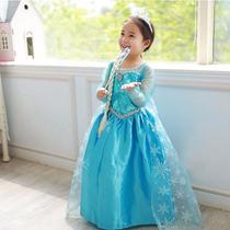 Lindo Vestido Princesa Elsa Frozen P Entrega! 7anos