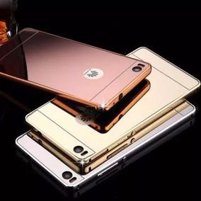 Bumper Espejo Aluminio Funda Huawei G Élite P8 Lite + Crista