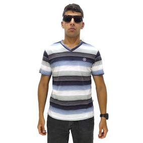 Camiseta Manga Curta Vlcs Colored Lines Slim Fit Sem Capuz W