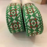 Galon Bordado Estilo Mejicano Verde, Blanco Y Rojo 10 M.