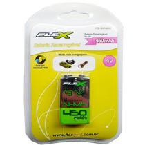 Bateria Recarregável 9v 450mah Flex Fx-9v/450 Microf Violão