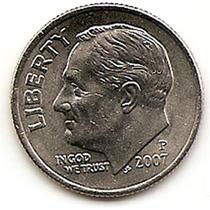 Moneda Estados Unidos One 1 Dime 10 Centavos Año 2007p