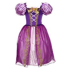 Disfraz Rapunzel Enredados Importado Talle 4 - 6 Años