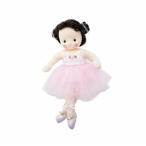 Boneca De Pano Bailarina A Corda Musical Rosa