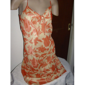 Vestido De Seda Y Gasa Forrado