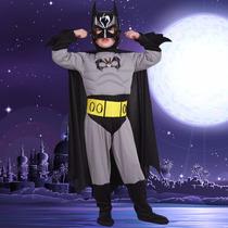 Novo!!!fantasia Batman Infantil Luxo Músculos Acagou