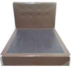Cama Copete Con Box En Semicuero Queen Nuevos