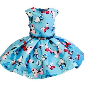 10.10.31064 Vestido Petit Cherie Estampas Borboletas