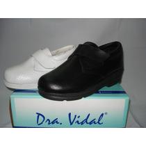 Zapato Con Velcro Mujer Dra Vidal M3036