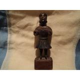 Antigua Figura Talla Madera Santo Arte Religioso Popular