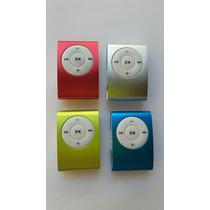 Mp3 Player Shuffle + Cabo Usb + Fones De Ouvidos Stereo