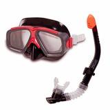 Kit Mergulho Com Máscara Snorkel Surf Intex Profissional