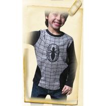 Remera Spiderman Con Luces Led De Invierno Para Nenes