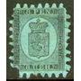 Finlandia Antiguo Sello Nuevo Escudo De Armas Años 1866-70
