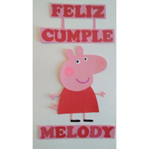 Cartel Feliz Cumple Peppa Pig