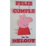 Cartel Feliz Cumple Peppa Pig