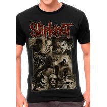 Camiseta Slipknot Blusas Moletom Regatas Bandas Rock Metal
