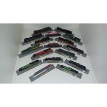 Kit Com 17 Miniaturas De Locomotivas Antigas Escala 1:160