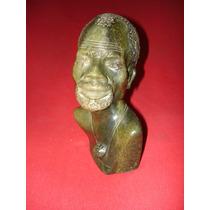 Aborigen Afro - Magnífico Y Decorativo Busto En Piedra -