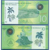 * Nicaragua Billete 10 Cordobas 2014 P. 210 Polimero Plastic