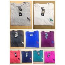 Kit De 5 Unidades Camiseta Acostamento Liso Masculino