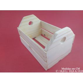 Caixote De Madeira Feira Miniatura Decoração Medio Ar 50un