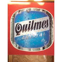 Calcomanía De Cerveza Quilmes 30cmx28cm. Vinilo Autoadhesivo