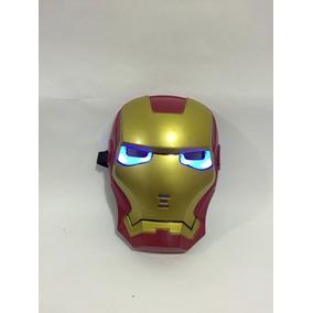 Mascara Com Led Marvel Super Herois Homem De Ferro
