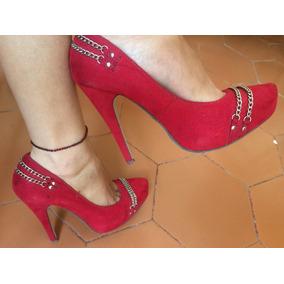 Zapatos De Tacón Altos Rojos Talla 37