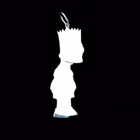 Pingente De Prata Bart Simpson