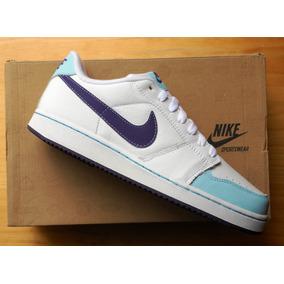 Tenis Nike Backboard En Piel Natural Blancos Nuevos #25.5