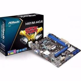 Placa Mãe Asrock H61 Intel 1155 H61m-hg4 Box I3,i5,i7 Nf.