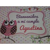 Cartel Personalizado Bienvenidos Lechuzita/búho
