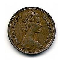 Inglaterra Moneda De Bronce 1 New Penny Año 1971