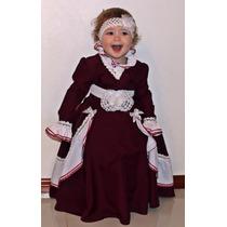 Vestido Prenda Infantil C/ Saia Armação Tam 1-2-3 Patrícia