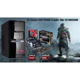 Pc Computadora Cpu Amd A10 Gamer 8gb Ssd 120g Mar Del Plata