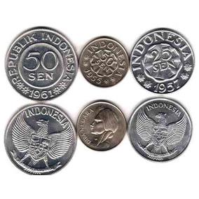 3 Monedas Diferentes De Indonesia Sin Circular