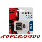 Memoria Micro Sd 2 Gb + Adaptador Sd Blister Kingston Envíos