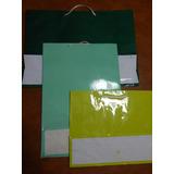 Lote 35 Bolsas Carton Plastificadas Cordon 28 X 40 Cm