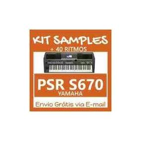 Kit Sample Yamaha S-670 Ritmos E Estrumentos Completo 2017