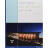 Matemáticas Para Administración Y Economía 13ª E Haeussler