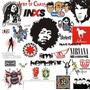 Mas De 200 Vectores Bandas De Rock Y Mas De 200 Fuentes