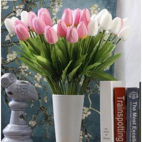 Lote 35 Tulipanes Artificiales [envío Gratis] Centro Mesa