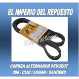 Correa Alternador 3pk-738 Peugeot 206 / Clio / Logan