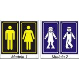 Carteles Para Puertas Baños, Oficinas, Consultorios, Negocio
