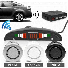 Sensor Estacionamento Ré Versa 4 Pontos Prata Display Led