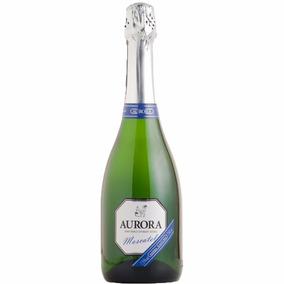 6 Vinhos Moscatel Espumante Aurora 750ml Serra Gaúcha