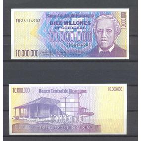 Nicaragua 10 Millones De Cordobas 1990 P.nº 166 S/circular