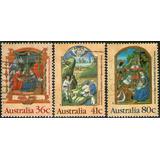 Australia Serie Completa X 3 Sellos Usados Navidad Año 1989