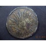 Moneda De Bronce De 2 Reales Falso 1827